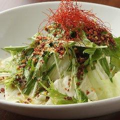 キャベツと水菜の熱々サラダ