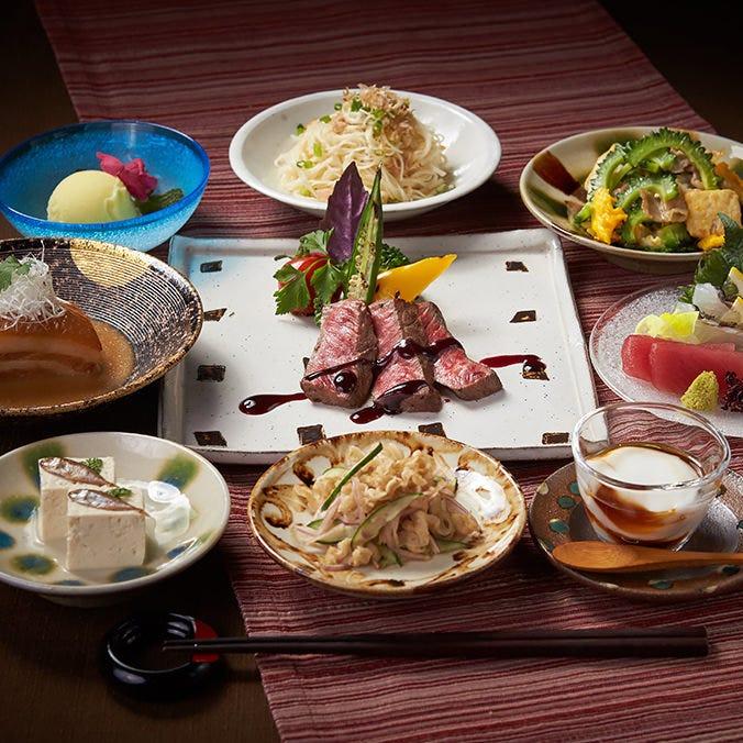 伝統を受け継ぐ琉球・沖縄料理コースは6,000円~