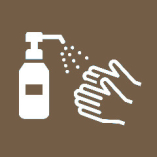 ◆おしぼり提供時にスタッフより、 お客様一人一人の手にアルコール消毒液を吹きかけさせていただきます