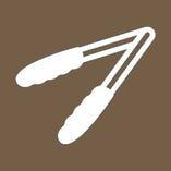 ◆飛沫感染防止のため、取り分け用の箸・トング等をご用意