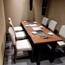 おもてなしに◎快適な完全個室を完備