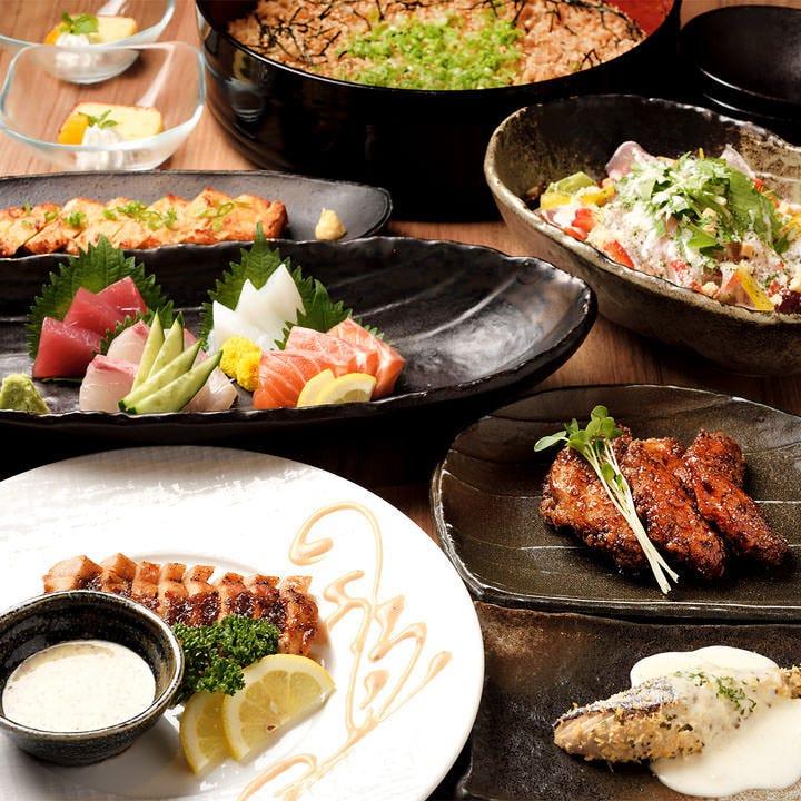 旬菜・旬魚を愉しめるコースで宴会を