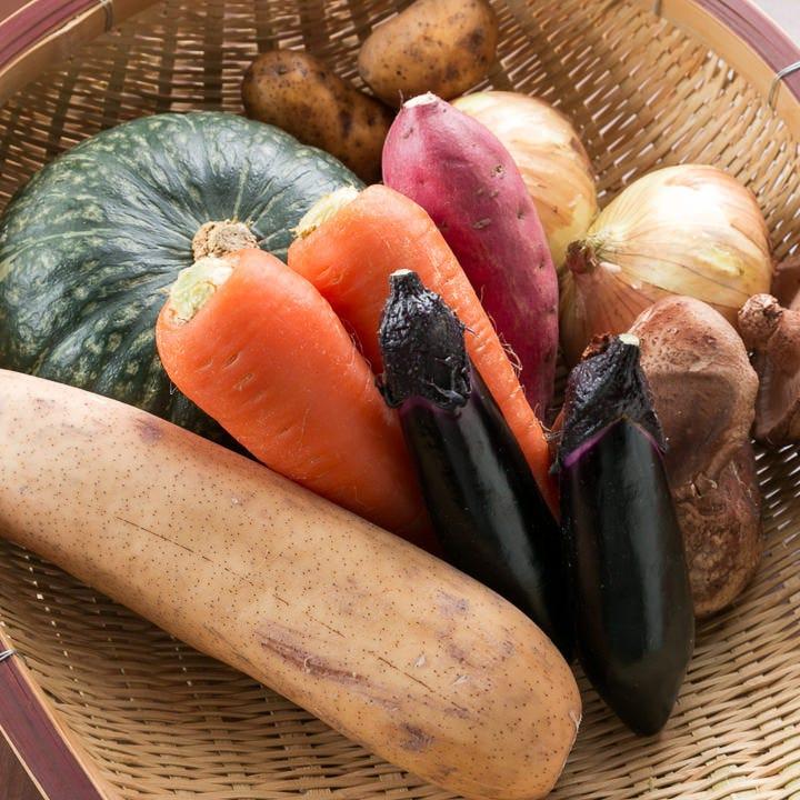 地元の農協と協力し、みずみずしい旬の地野菜もご提供します