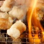 炭火七輪で味わう♪上質脂が溶け出す黒毛和牛生ホルモン