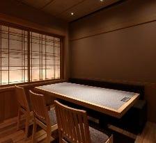 和空間、全部屋半個室空間です。