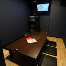 テレビ付き個室完備!