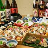 旬の食材をふんだんに使った和食料理。コースは3500円~ご用意。