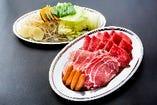 「プレミアムプランB」3種肉のジンギスカン&ラム肉+豚肉しゃぶしゃぶ食べ放題