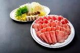 ラム肉&豚肉しゃぶしゃぶ