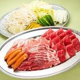 牛肉・特選ラム肉・豚肉ジンギスカン食べ放題(60分)