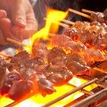 ◆30種以上の食材を炭火焼で焼きあげる博多串焼きも大好評!
