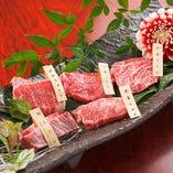 二枚肉もご用意しております。赤身シリーズ(塩・タレ)