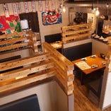 個室席とテーブル席をご用意!会社宴会や飲み会・歓迎会にも♪