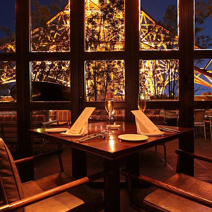 東京タワーを眺めながら想い出に残るディナータイムを‥