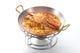 渡り蟹のスープ仕立てのパスタ スープでリゾットを仕上げます