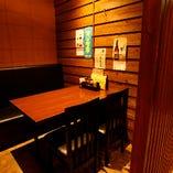 テーブル席半個室(3~5名様)