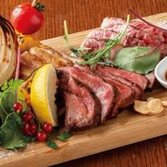 肉肉肉肉菜の炭火焼5点盛り