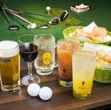ご飲食をしながらゴルフラウンドが出来ます!