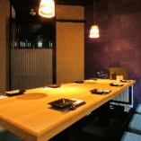 【夜景が見える完全個室】広めの掘り炬燵ですので接待や大事な宴席に人気の個室です!