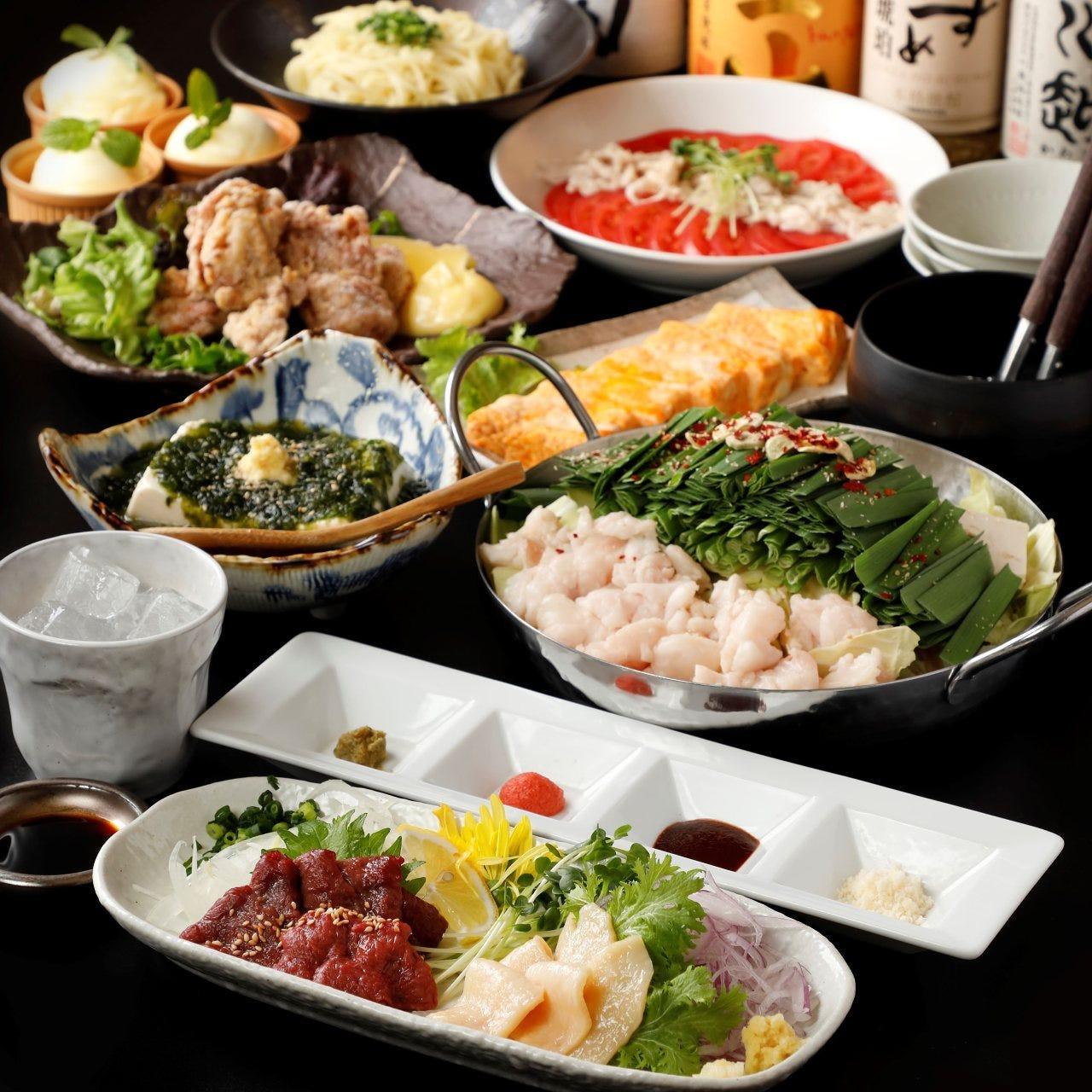 【2時間飲み放題付】名物料理をお得に堪能!お料理8品 炭火の「日和」コース