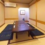 お座敷個室(4~10名様)→現在は感染予防対策のため(4名様~6名)用