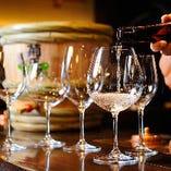 ブルゴーニュグラス等、ソムリエの資格も持つ利き酒師セレクトのワイングラスで。