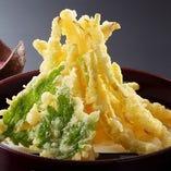 島らっきょうの天ぷら