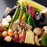 季節の食材を天ぷらに…