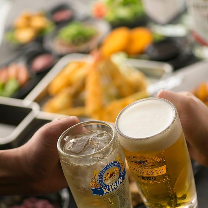 ビールも楽しめる約50種!1,480円(税抜)飲み放題(120分制 L.O.30分前)