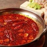 辛さの選べる火鍋! 蕎麦だし、鶏白湯もございます。