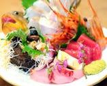 新鮮魚介の 旬の味覚をお楽しみください!