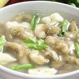 マテ貝のスープ。(1,500円/税抜)
