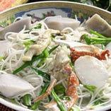 海鮮入り里芋の太ビーフン煮。(1,200円/税抜)