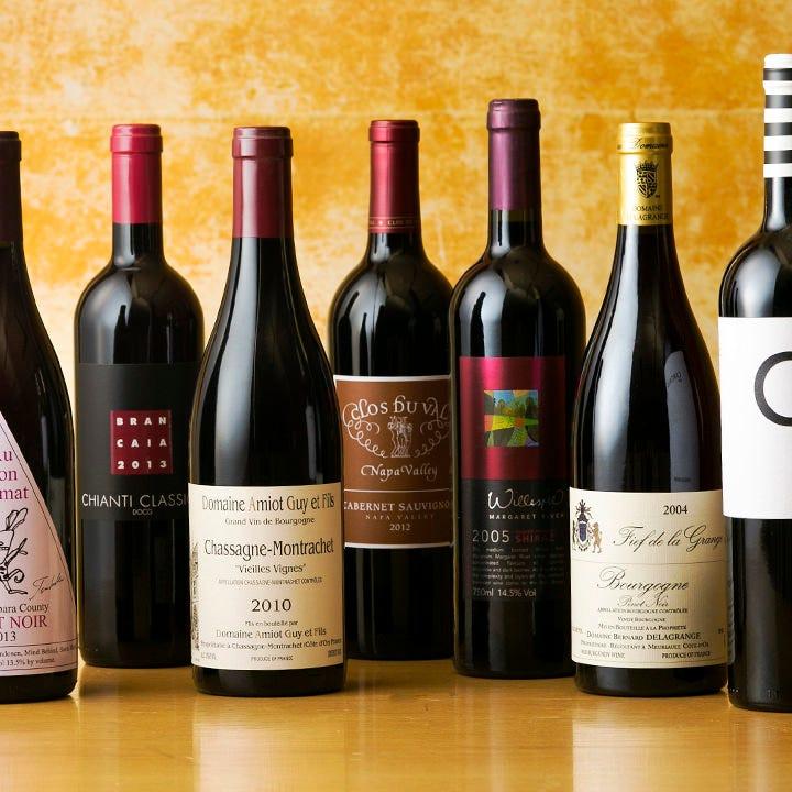 イタリア・フランスをはじめ世界各国のワインをお楽しみください