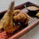 伊達鶏の唐揚げ 特製味噌ディップで