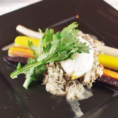 ずわい蟹といろいろ人参のサラダ