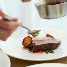 【前菜・お魚・お肉・デザートのコース料理】しっかりと楽しむ全5品《2時間飲み放題付》