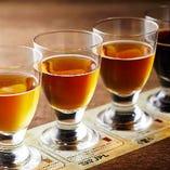こだわりのクラフトビール日替わり4種類が人気です。