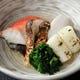 金目鯛と松茸の酒蒸し。豪華な逸品料理です。