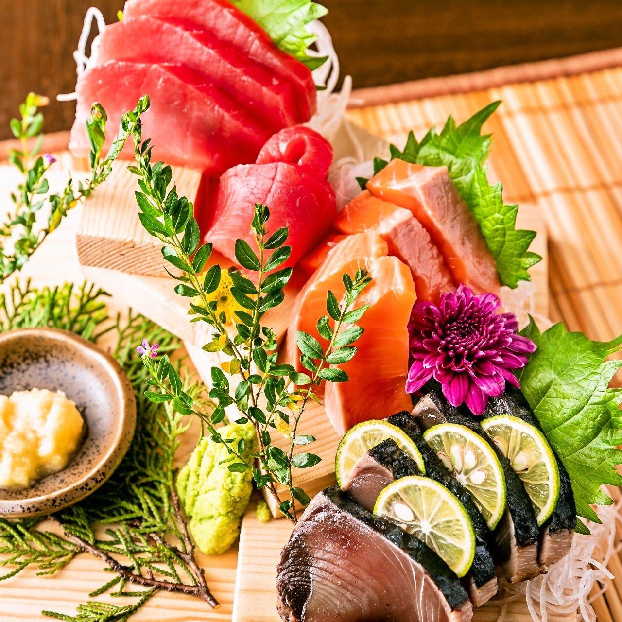 こだわりの新鮮魚介料理