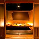 ≪ゆったりとした寛ぎ空間≫ご宴会向け掘り炬燵個室