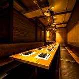 会食や接待の利用など、個室でのご予約受け付けます。