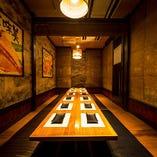 上質個室空間へご案内いたします!大人数様のご宴会は当店へ!
