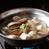 3種の貝と豆腐鍋