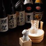 日本酒や焼酎も充実のラインナップ