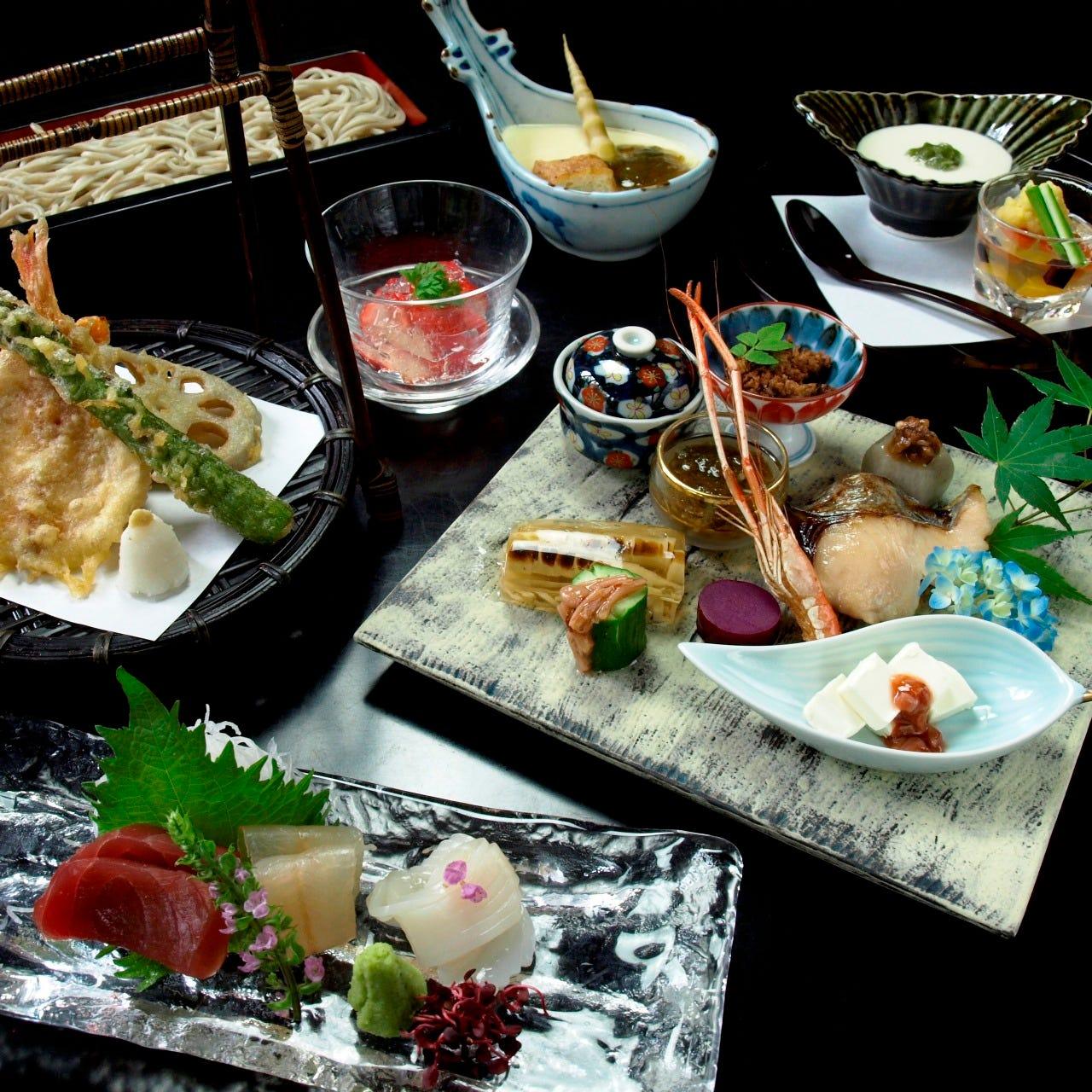 お飲み物+料理七品コース 6000円