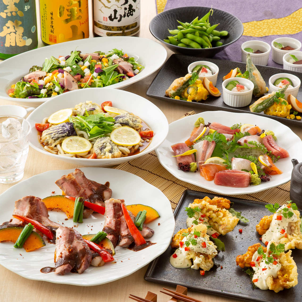 楽蔵こだわりの旬の食材をお楽しみ下さい。