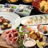 【ブラックアンガス牛のローストビーフと鮮魚のお造りコース】全8品/6,000円※お料理のみ