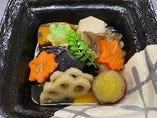 秋野菜の炊き合わせ