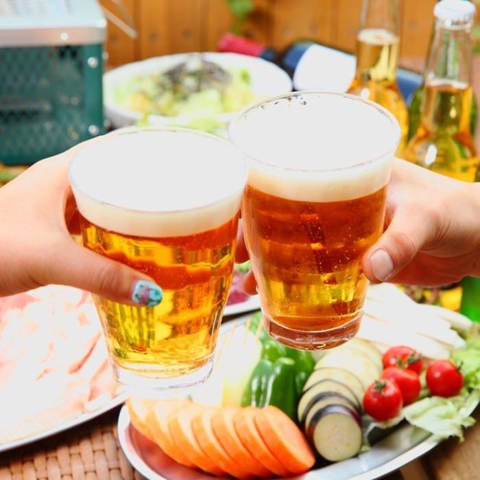 ワインもビールもお洒落に女子ビアガーデン♪